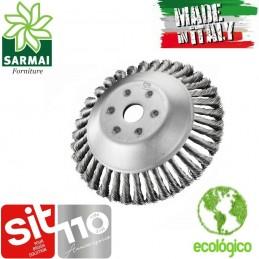 SIT Testina decespugliatore universale spazzola conica ecologica acciaio Ø 17 cm
