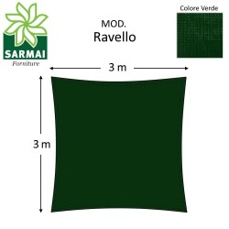 Vela ombreggiante tenda da sole telo QUADRATA RETTANGOLARE 5x5 4x6 3x3 3x4 m