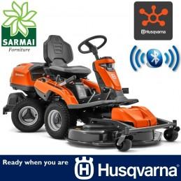 Trattorino rasaerba Rider HUSQVARNA R 316TX AWD completo piatto COMBI 103 cm