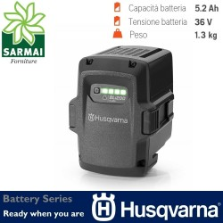 Battery Series HUSQVARNA BLi200 accessori batteria Li-on litio 36V 5.2 Ah