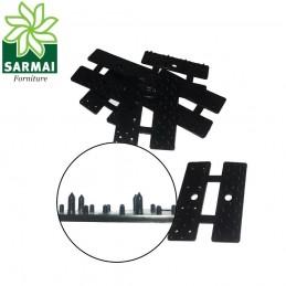 Clip pinze mollette per posa e fissaggio rete telo ombreggiante resistenti in PVC