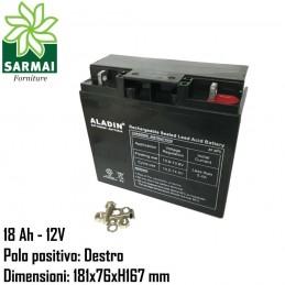Batteria professionale SLA 18,0 Ah - 12V pronta all'uso resistenza durata max