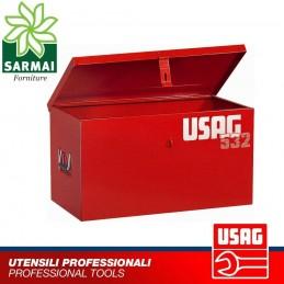 USAG 532 B BAULE CASSA CASSONE PORTAUTENSILI PORTA ATTREZZI METALLO 650x350x350