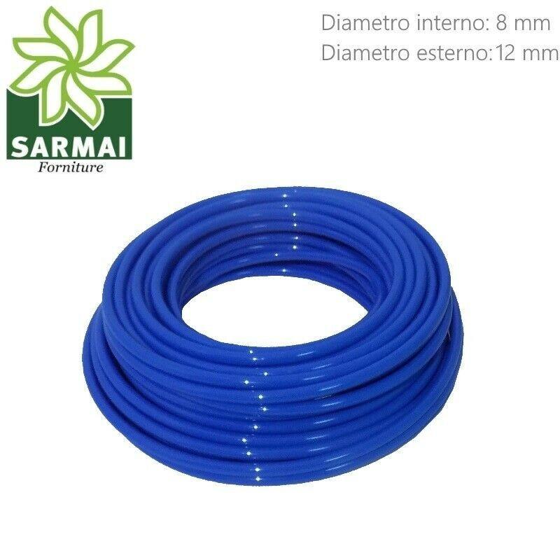 Tubo Aria Compressa 8x12 mm in Poliuretano lineare flessibile 100 metri 8 Bar