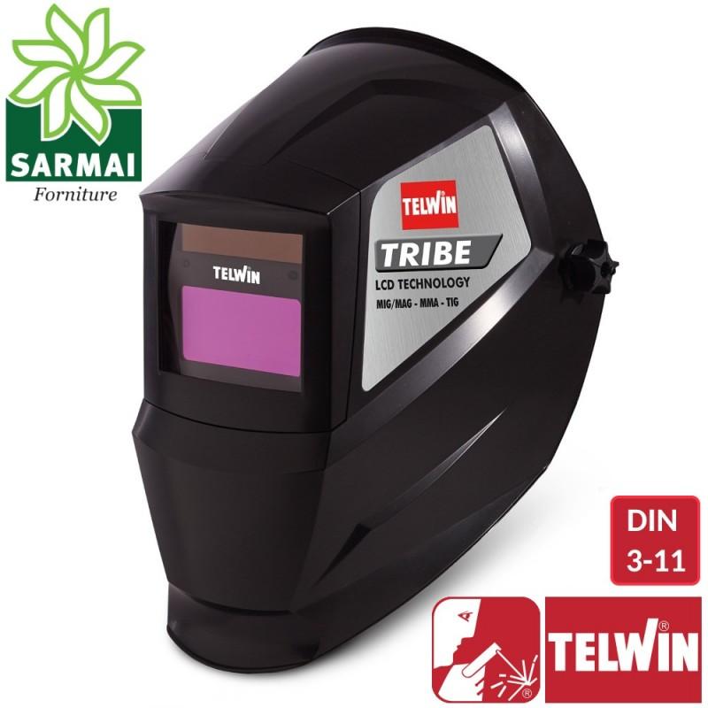 TELWIN TRIBE Maschera casco saldatura filtro LCD a cristalli liquidi MIG MAG TIG