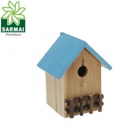 Casetta per uccellini in legno per nidificazione e ricovero