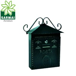 Cassetta postale porta rivista in ferro battuto ramata mod. CASETTA 30x10x36 cm