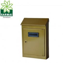 Cassetta postale porta rivista in lamiera verniciata bronzo mod. CT