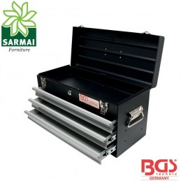 BGS 3312 cassetta cassettiera baule attrezzi in metallo con serratura VUOTA