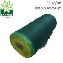 Rete reti telo rotolo 4x250 mt raccolta olive 33 gr/m² antistrappo rinforzato