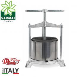 Torchietto Torchio Premitutto Spremitura in Alluminio e Acciaio Inox 5 L Palumbo