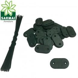 Kit fissaggio clip fissaggio posa rete telo ombreggiante filo plastificato 26 pz