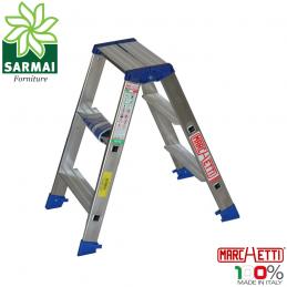 Marchetti GAUDI scala scaletto alluminio doppia salita 3 gradini altezza 0,75 m