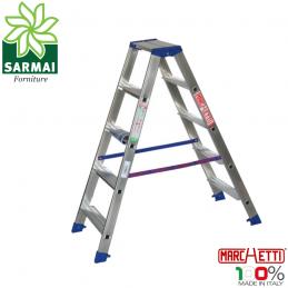 Marchetti GAUDI scala scaletto alluminio doppia salita 5 gradini altezza 1,30 m