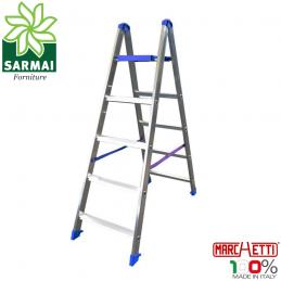 Marchetti PABLO scala 5 gradini scaletto alluminio doppia salita con piano