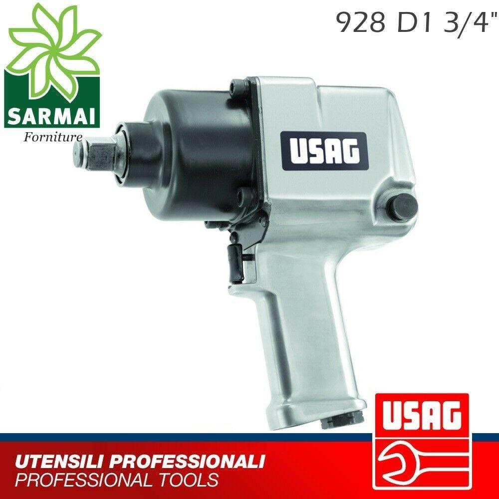 USAG 928 D1 3/4 Avvitatore pistola aria pneumatico ad impulsi reversibile 1700Nm
