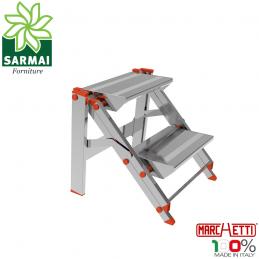 Marchetti CLASS02 scala scaletto sgabello in alluminio 2 gradini altezza 46 cm