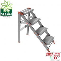 Marchetti CLASS04 scala scaletto sgabello in alluminio 4 gradini altezza 92 cm
