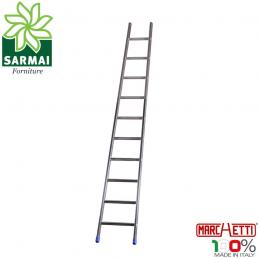 MARCHETTI AGRIL14 scala 14 Pioli professionale conica singola alluminio leggera H 4,10 m