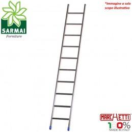 MARCHETTI AZZURRA AL10 scala professionale singola in alluminio leggera H 2,99 m