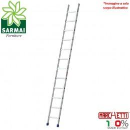 MARCHETTI AZZURRA A114 scala 14 Pioli professionale in alluminio H 4,10 m