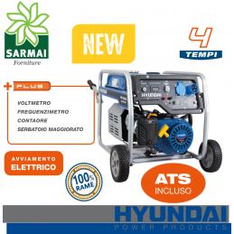 Hyundai HY4500 gruppo elettrogeno Generatore a benzina carrellato 4 Kw 230V