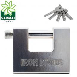 Lucchetto monoblocco in Acciaio speciale Iron Stone antiscasso per serranda