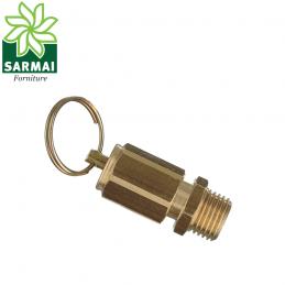 Valvola di sicurezza tarata scarico compressore aria attacco 3/8 taratura 11 bar