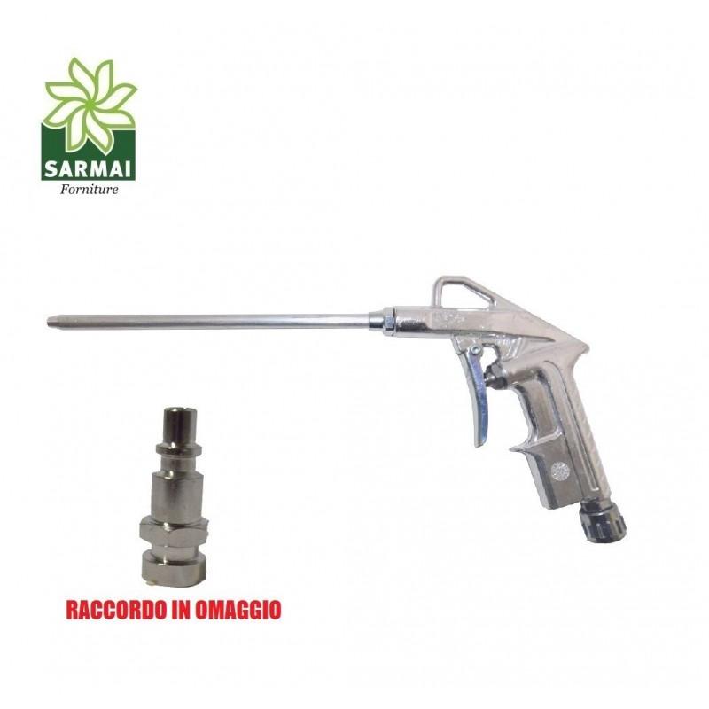 Pistola aria compressa soffiaggio compressore canna corta 125 mm