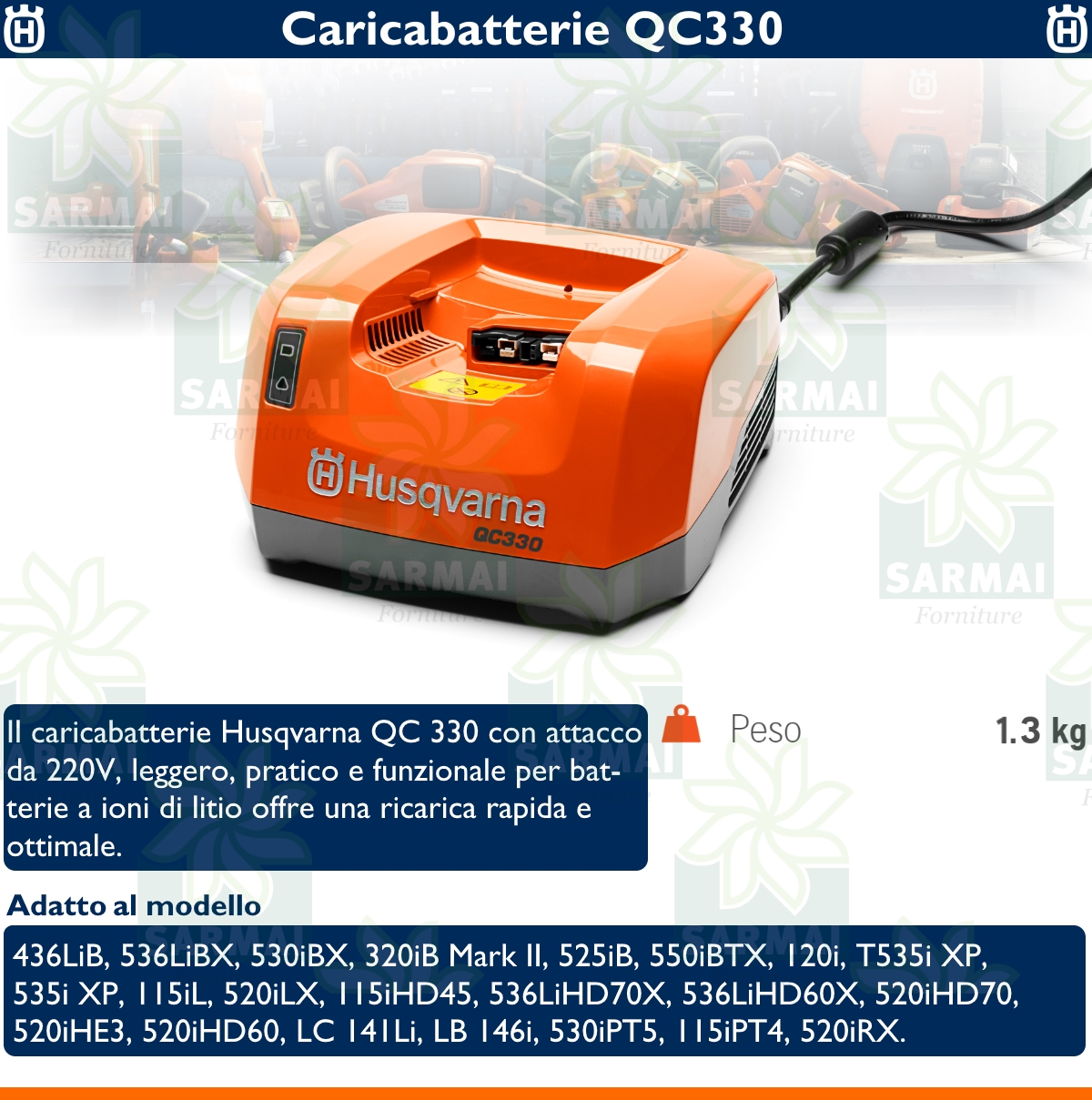 DESCRIZIONE BATTERIA QC330