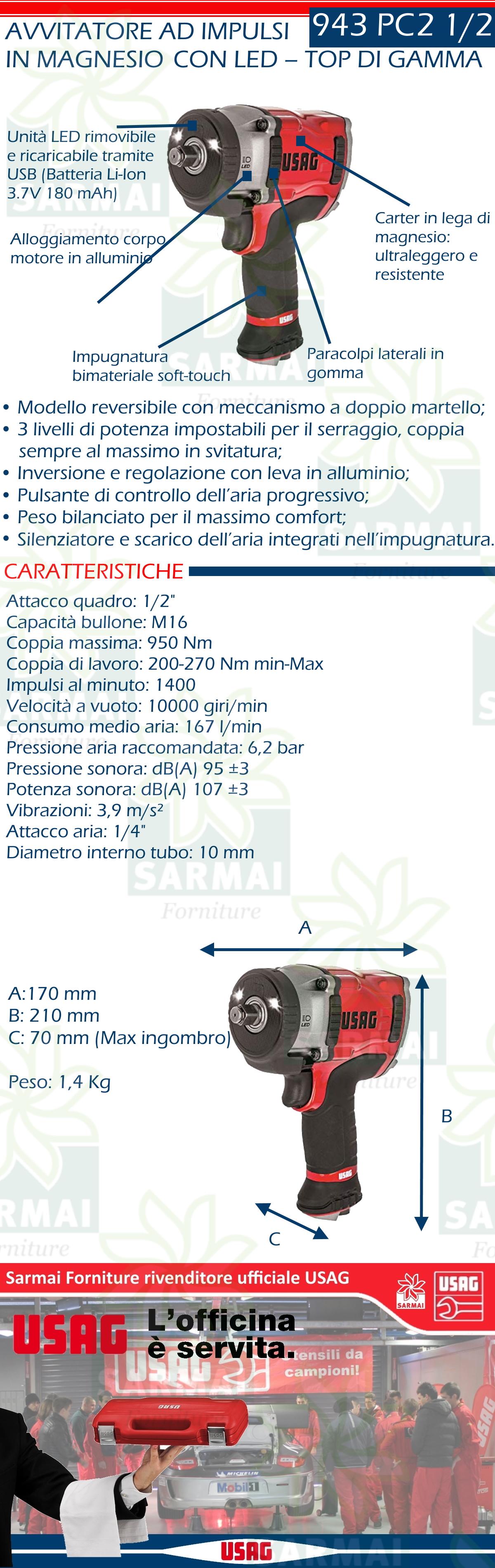 SW-Stahl S3296 Avvitatore ad angolo ad aria compressa Mini I 1//2 I 450 Nm I Avvitatore ad aria compressa per cambio pneumatici